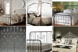 Wrought iron headboard full