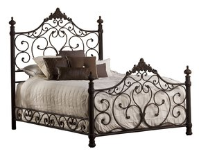 Wrought iron headboards king