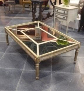 Antique mirror coffee table tables antique mirrors louis xv and