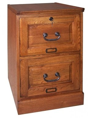 Wood Antique File Cabinet