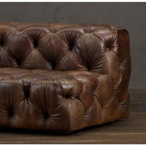 Armless leather sofa 19