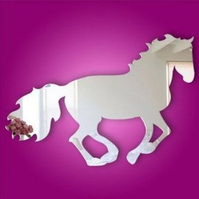 BestGrew® Kids Acrylic Mirror Horse Kids Room Decal Art Mural Wallpaper Wall Decal Wall Sticker