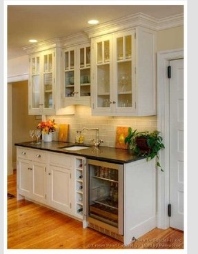 Buffet With Wine Cooler