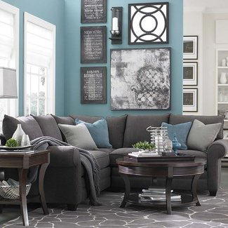 Admirable Charcoal Gray Sectional Sofa Ideas On Foter Machost Co Dining Chair Design Ideas Machostcouk
