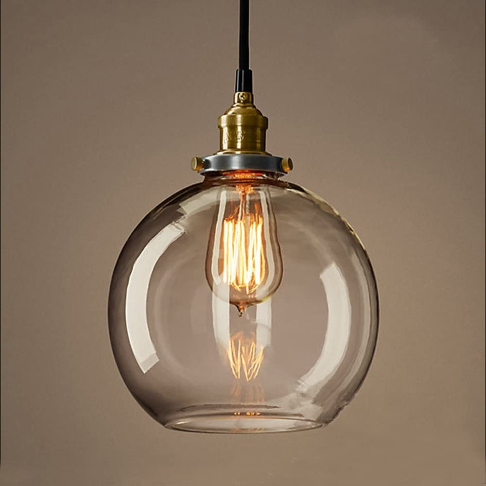 Clear glass globe pendan light modern