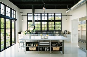 Commercial kitchen islands