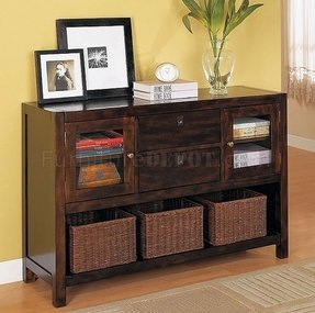 Contemporary console table with drawers