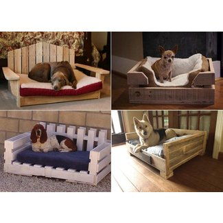 Dog bed made from pallets