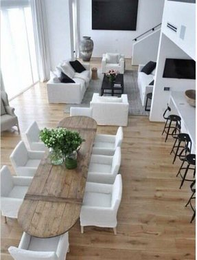 European white oak 10 x 10 flooring contemporary dining room