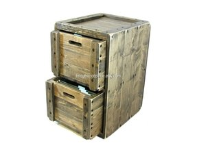 File Cabinet Rustic Solid Wood Office