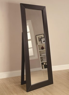 Simple Yet Elegant Floor Standing Mirror Designed For Convenience And Durability Features Durable Wooden Frame In Beautiful Finish Large Reflection E