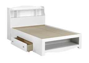 Full Size Storage Bed With Bookcase Headboard