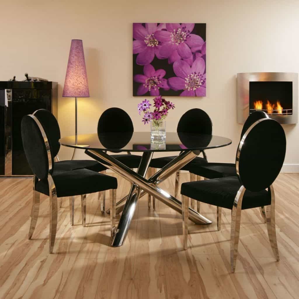 Glass Round Dining Table For 6 2