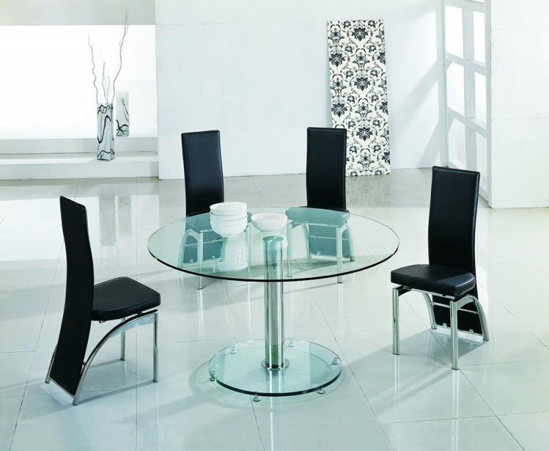Glass Round Dining Table For 6 4
