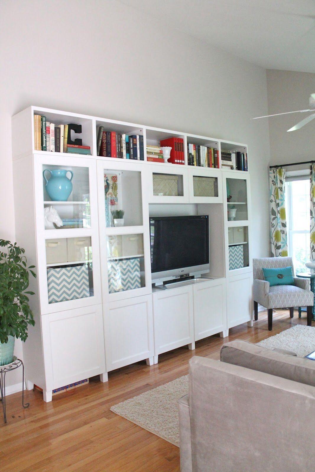 Glass Shelves In Living Room