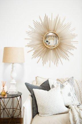 Large Gold Sunburst Mirror Foter