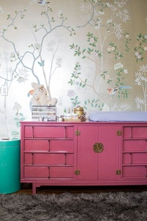 Hand painted console tables