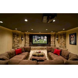 Home theater sectional sofas