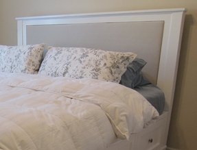 King bed padded headboard 2