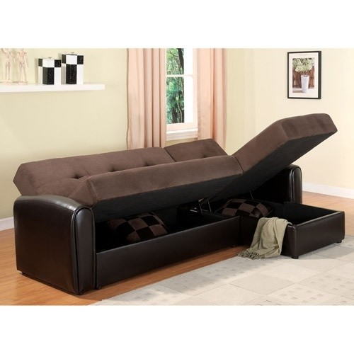 Lakeland sectional sofa with storage chocolate
