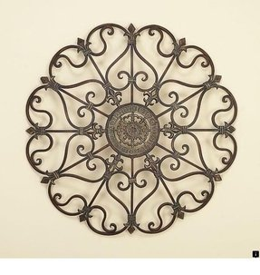 Large round metal wall art