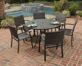 Large round outdoor dining table 13