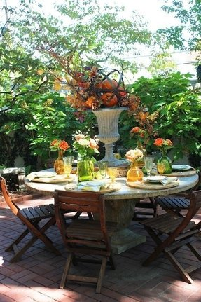 Large round outdoor dining table 2