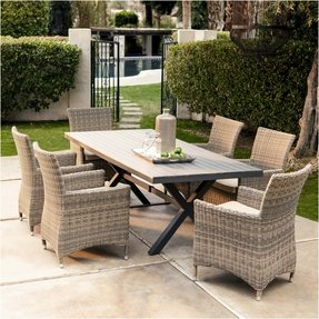 Large Round Outdoor Dining Table 24