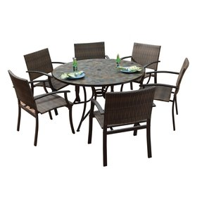 Large Round Outdoor Dining Table 6