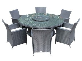 Large Round Outdoor Dining Table 7