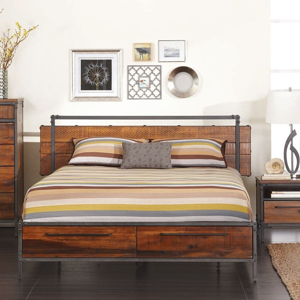 Metal And Wood Bedroom Sets