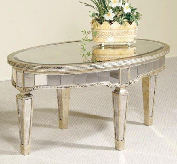 Mirrored Coffee Table Round