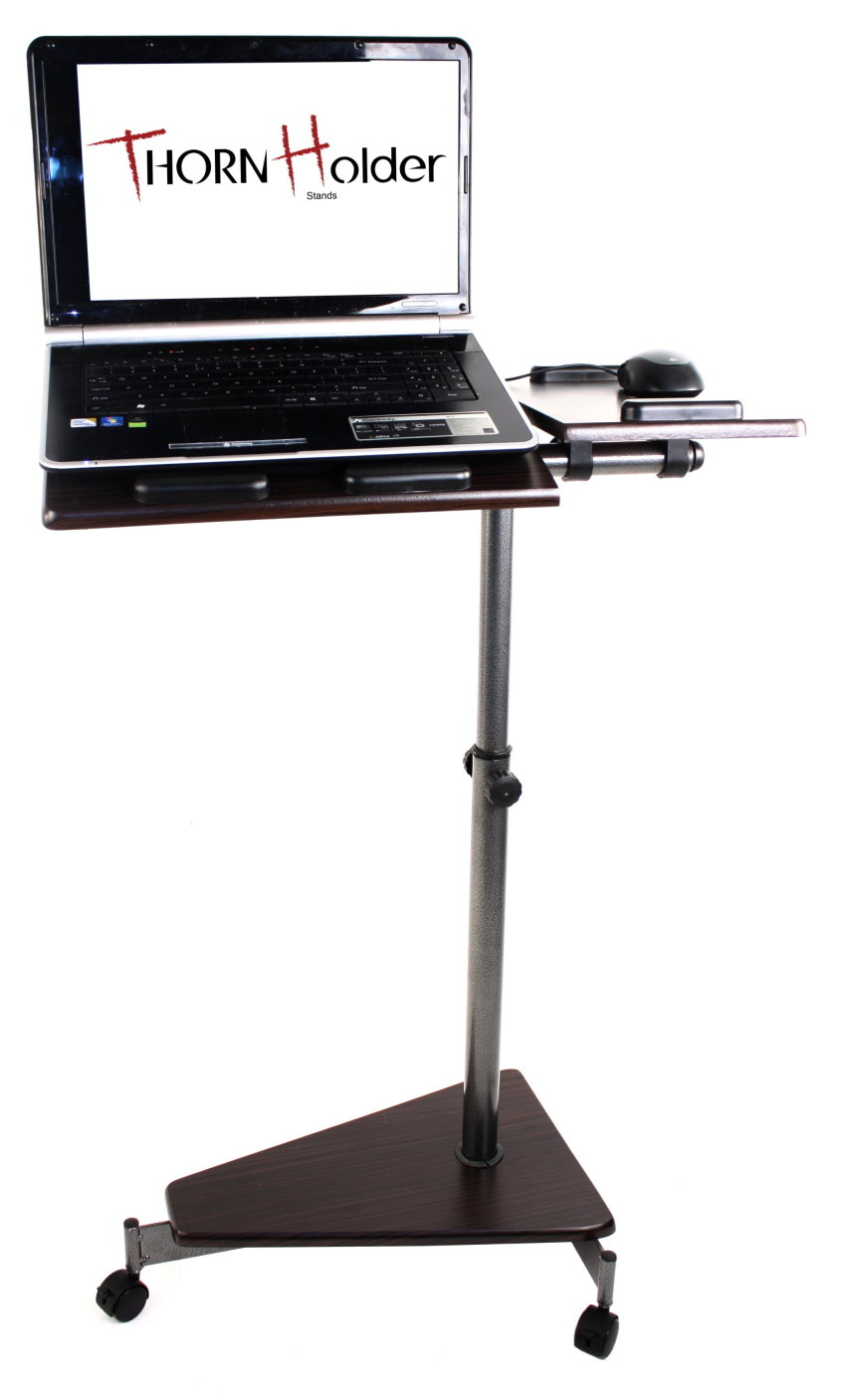 Mobile Computer Table Laptop Stand Portable Cart Storage Desk Rolling