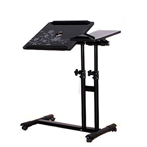 PAG 4 Wheels Laptop Desk Assemble Table Adjustable Hight And 360 Degree  Rotatable Desktop Tray ,