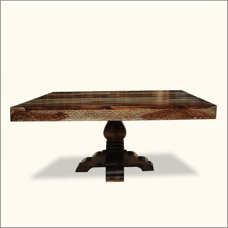Pedestal Square Dining Table