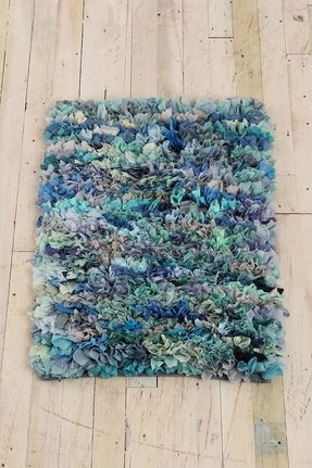 Perfect for a mermaid nursery mixed media shag rug