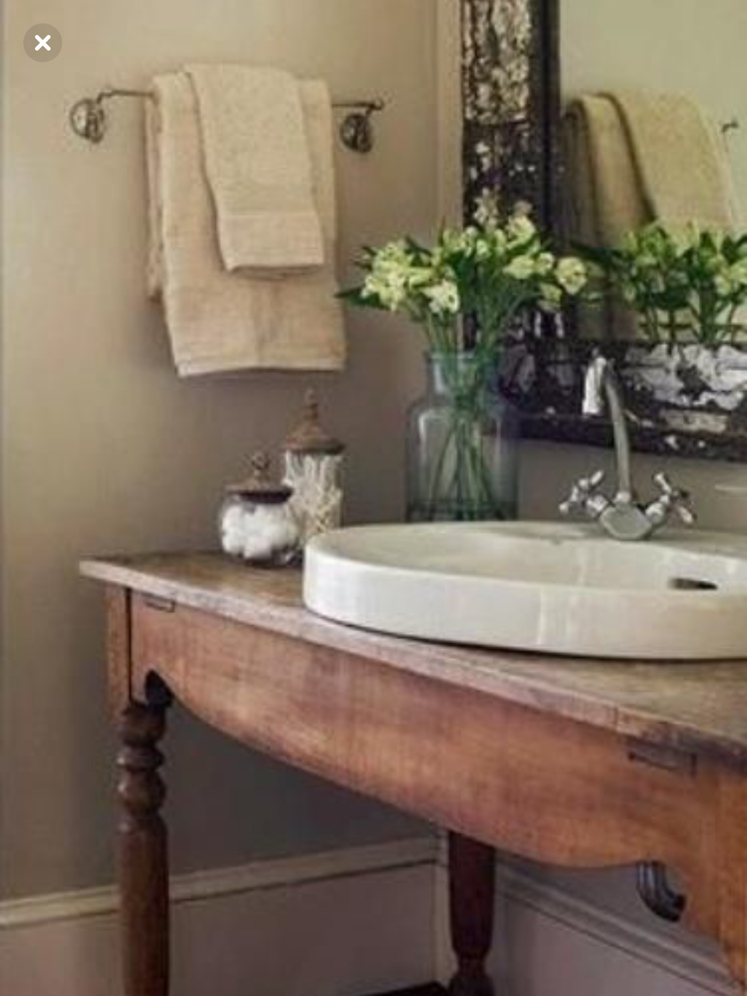 Exceptional Reclaimed Wood Sink Console