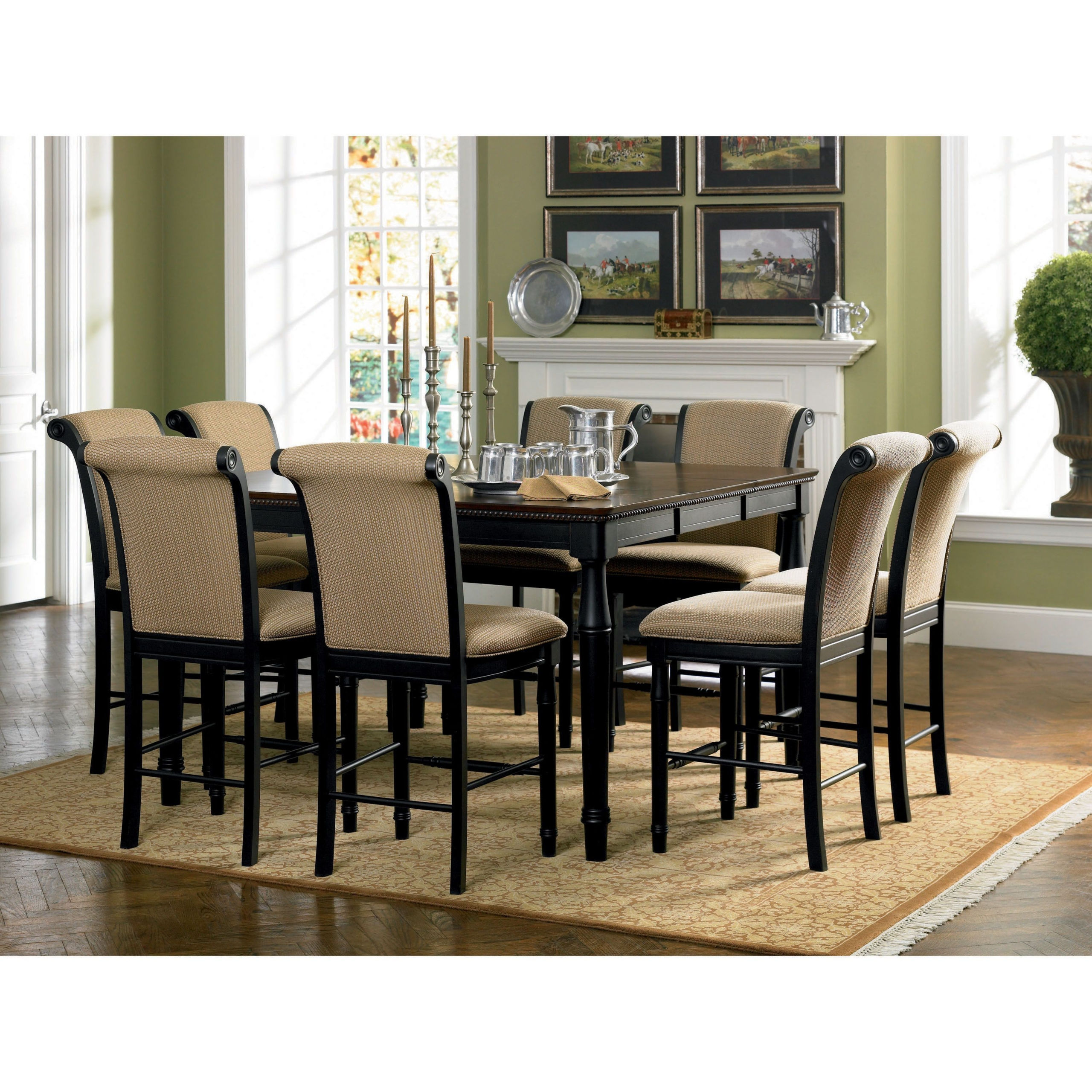 Round Bar Height Dining Table 1