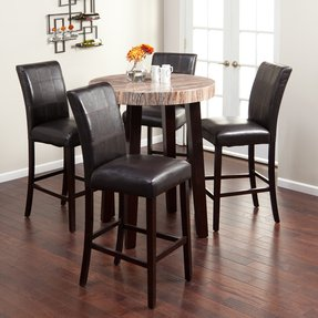 Round bar height dining table 2