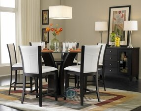 Round bar height dining table 5
