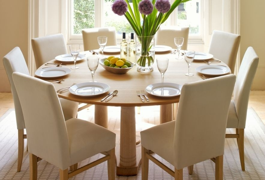 Round Dining Table For 12 Dimensions