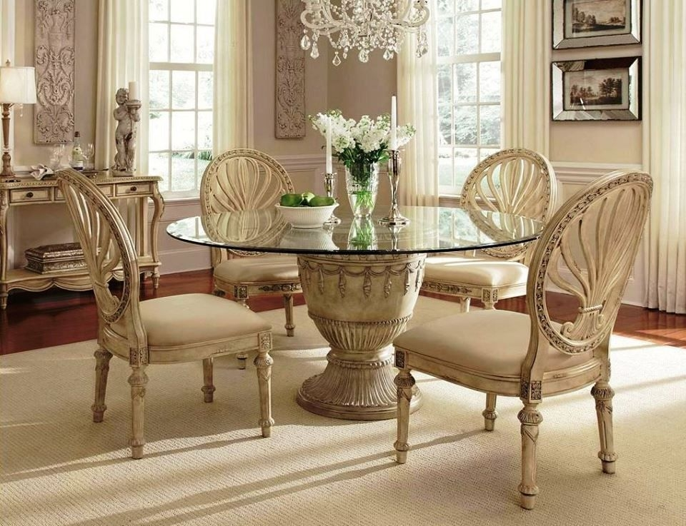 Round Glass Dining Table For 6 2