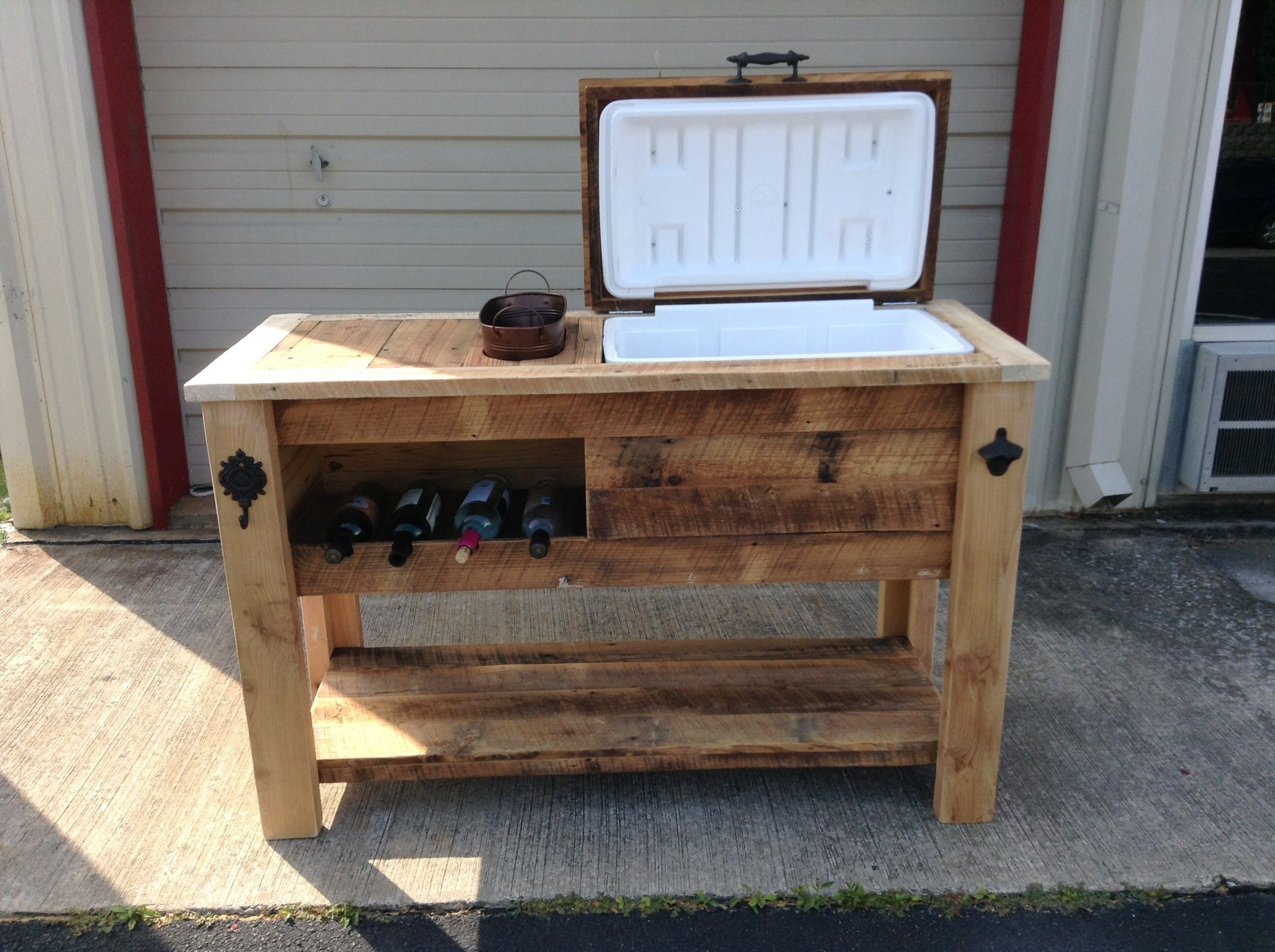 Rustic Cooler Barn Wood Cooler Sports