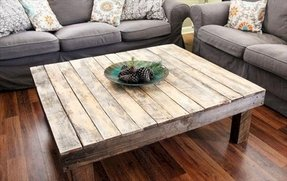 Rustic reclaimed wood large square