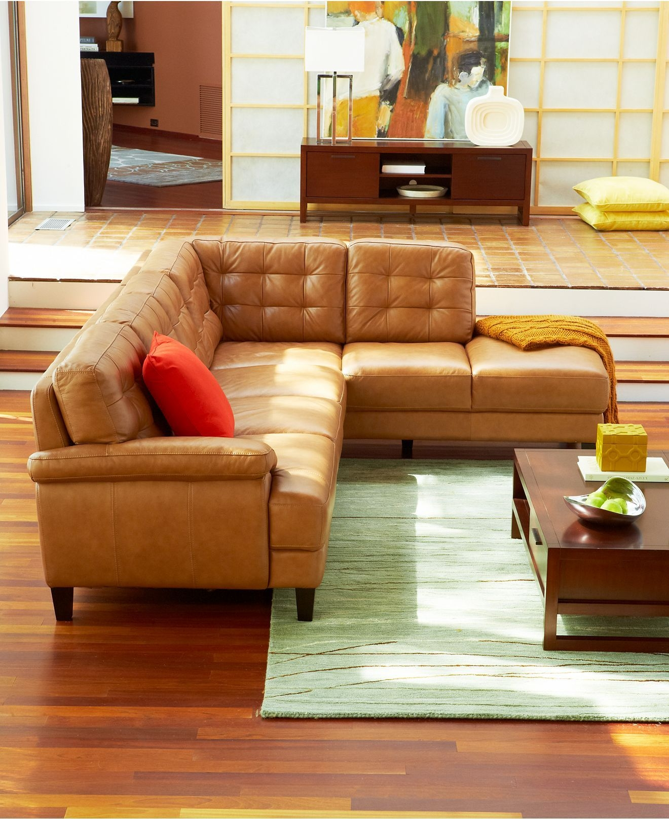 Small Leather Sectional Sofa Foter