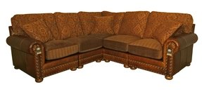 Leather And Fabric Sectional Sofas - Ideas on Foter