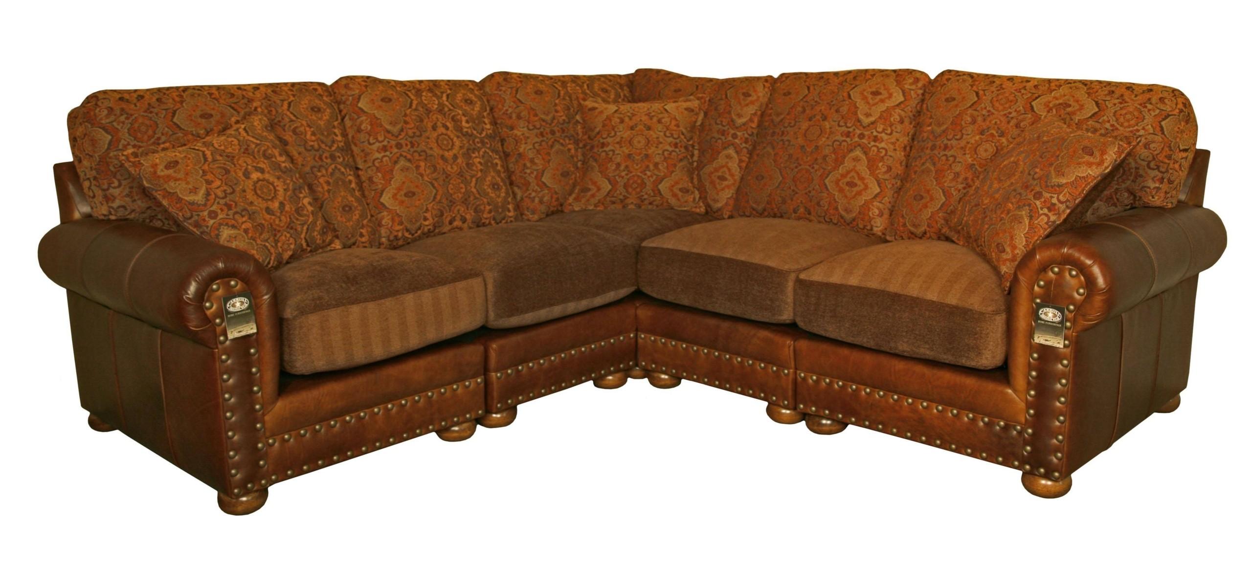 Beau Sofa Leather Fabric Combination