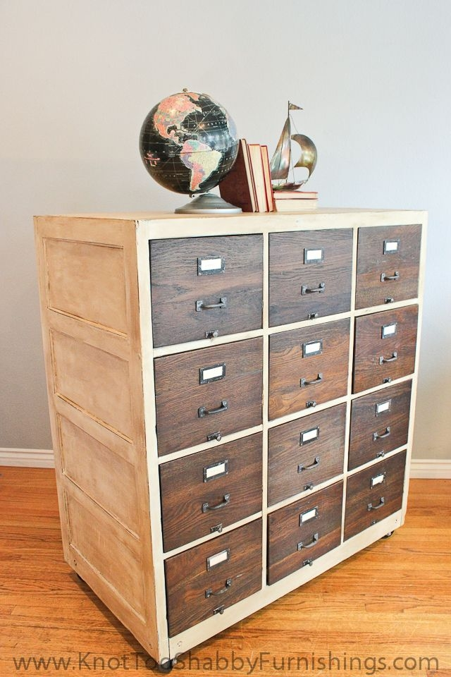 Solid Wood Filing Cabinet 1