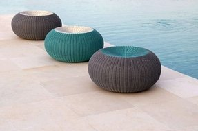 Spinball modern round outdoor ottoman modern ottomans and cubes other