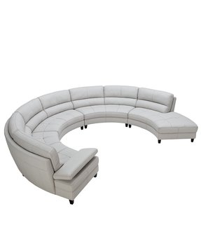 Stacey leather sectional sofa